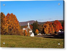 Church And Mountain Acrylic Print