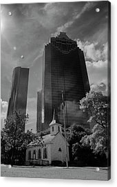 Church And State Black And White Acrylic Print by Joshua House
