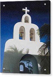 Church At Playa Del Carmen Acrylic Print by Kirk Graham