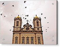 Acrylic Print featuring the photograph Church Birds by Kim Wilson