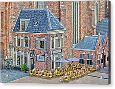 Acrylic Print featuring the photograph Church Cafe In Groningen by Frans Blok