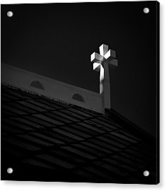 Church Cross Acrylic Print by Dave Bowman