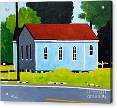 Church, Dailsville Rd Acrylic Print by Lesley Giles