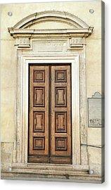 Church Door Acrylic Print by Valentino Visentini