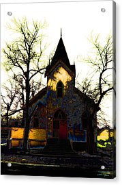 Acrylic Print featuring the digital art Church I by Stuart Turnbull