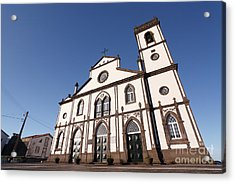 Church In Azores Islands Acrylic Print by Gaspar Avila