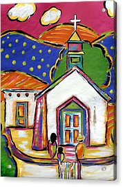 Church In Blanco Acrylic Print