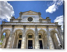 Church In Evora Acrylic Print by Andre Goncalves