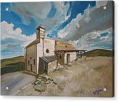 Church In Iqrit Acrylic Print by Marwan  Khayat