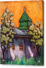 Church In New Mexico Acrylic Print