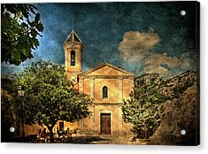 Church In Peillon Acrylic Print