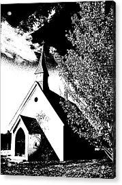 Church In Shadows Acrylic Print