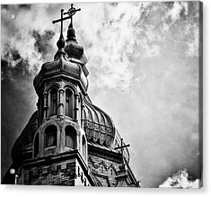 Acrylic Print featuring the photograph Church In The Clouds by Sheryl Thomas