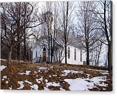 Church In The Woods Acrylic Print by Margaret Hamilton