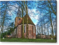 Church In Winsum Acrylic Print