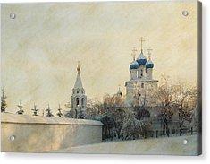 Church In Winter Estate Acrylic Print by Konstantin Sevostyanov