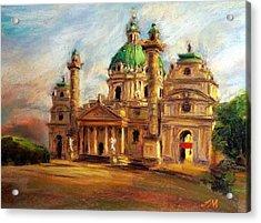 Church Acrylic Print by Jieming Wang