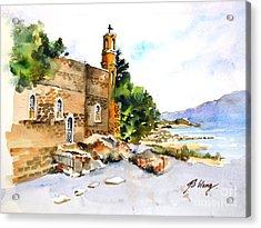 Church Of Primacy, Galilee Acrylic Print