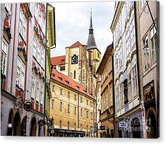 Church Of Saint Giles In Prague Acrylic Print by John Rizzuto