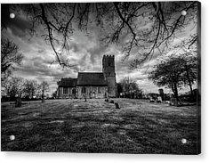 Church Of St Botolph Churchyard Acrylic Print by Nigel Bangert