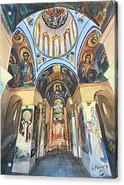 Church Of St. George, Kyustendil, Bulgaria Acrylic Print by Henrieta Maneva