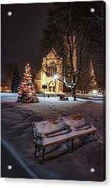 Acrylic Print featuring the photograph Church Of St Mary St Paul At Christmas by Kendall McKernon
