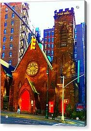 Church Of The Holy Communion Acrylic Print by Aimee Fields