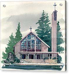 Church Of The Immaculate Heart Of Mary Acrylic Print by Donald Maier