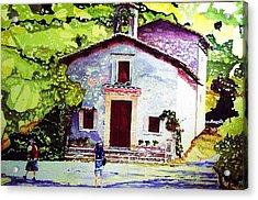 Church Of The Roses Italy Acrylic Print by Tom Herrin