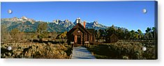 Church Of Transfiguration, Grand Teton Acrylic Print by Panoramic Images