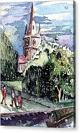 Church Of William Shakespeare Acrylic Print by Mindy Newman