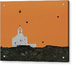 Church On A Hill Acrylic Print