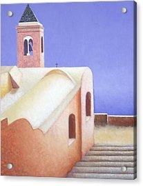 Church On The Coast Acrylic Print by Gloria Cigolini-DePietro