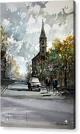 Church On The Hill Acrylic Print by Ryan Radke