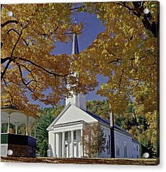 Church, Sharon Vermont Acrylic Print