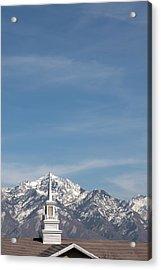 Church Steeple 4 Acrylic Print by Steve Ohlsen