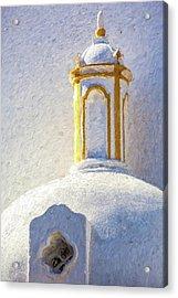 Church Steeple Of Portugal Acrylic Print by David Letts