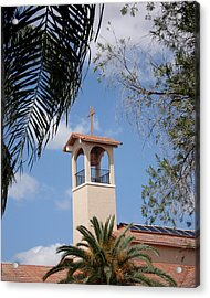 Acrylic Print featuring the photograph Church Steeple by Rosalie Scanlon