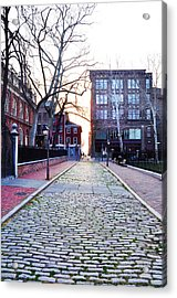 Church Street Cobblestones - Philadelphia Acrylic Print by Bill Cannon