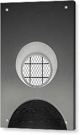 Church Window In Black And White Acrylic Print