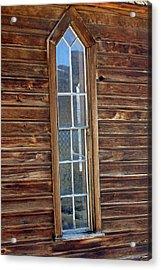 Acrylic Print featuring the photograph Church Window by Lynn Bawden