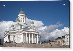 Acrylic Print featuring the pyrography Church  by Yury Bashkin