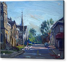Churche In Downtown Georgetown On Acrylic Print
