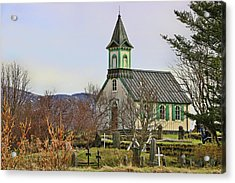 Churches Of Iceland # 1 Acrylic Print by Allen Beatty