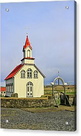 Churches Of Iceland # 3 Acrylic Print by Allen Beatty