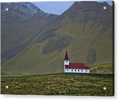 Churches Of Iceland # 4 Acrylic Print by Allen Beatty