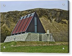 Churches Of Iceland # 5 Acrylic Print by Allen Beatty