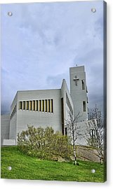 Churches Of Iceland # 6 Acrylic Print by Allen Beatty