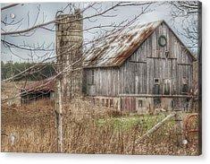 0008 - Churchill Christmas Barn Acrylic Print