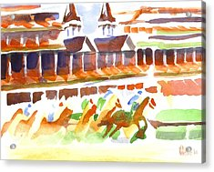 Churchill Downs Watercolor Acrylic Print
